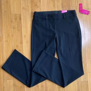 NWT Candie's Audrey Bootcut Stretch pants black 7